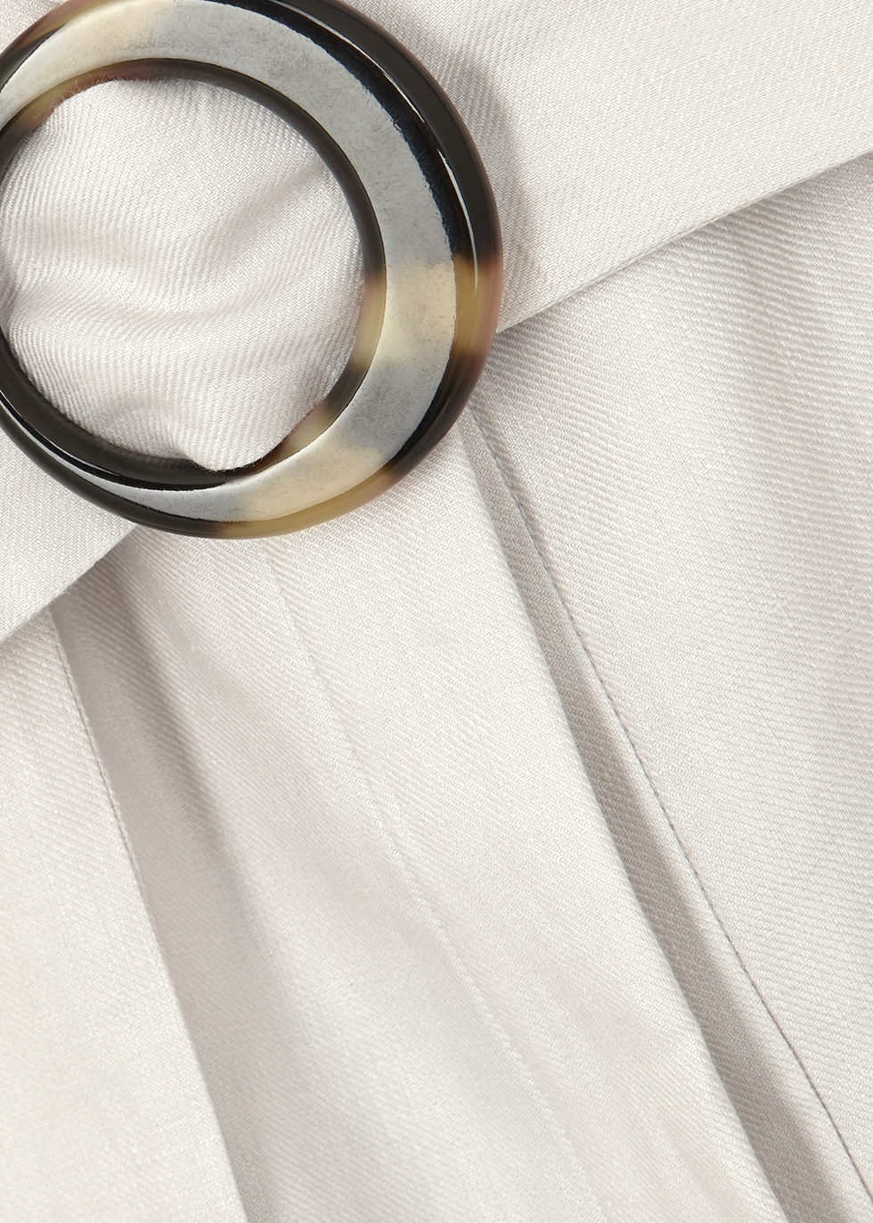 Stone belted linen jacket - Emporio Armani