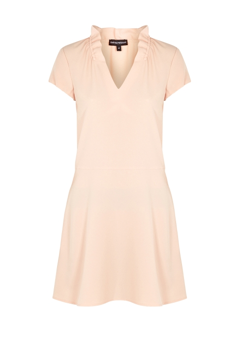 f7348eb6a39 Emporio Armani Blush ruched crepe dress - Harvey Nichols