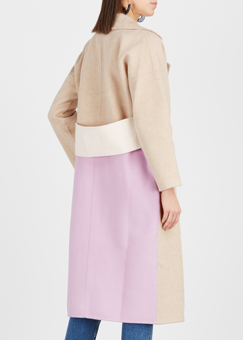 Kate colour-block wool-blend coat - Rejina Pyo