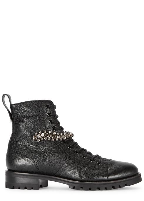 2f399565821b Jimmy Choo Cruz 25 embellished leather ankle boots - Harvey Nichols