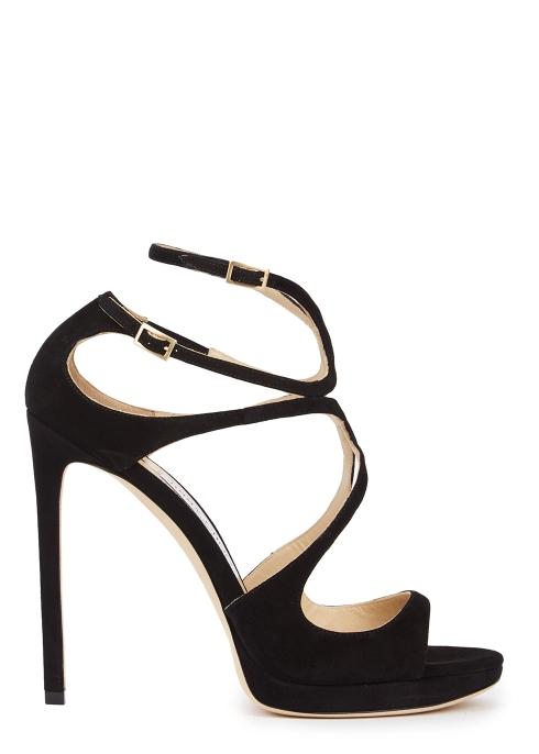 4f1537462b2 Jimmy Choo Lance 120 black suede sandals - Harvey Nichols