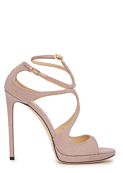 a4c963d59ac0 Jimmy Choo Lance 120 pink glittered leather sandals - Harvey Nichols