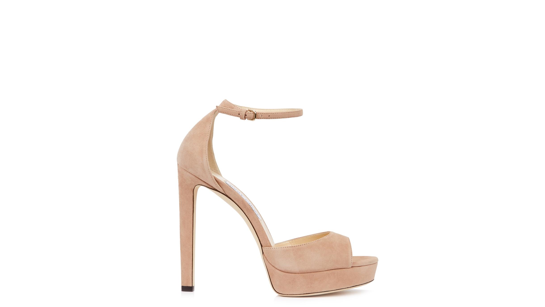 c516a5c0290 Jimmy Choo Pattie 130 blush suede sandals - Harvey Nichols