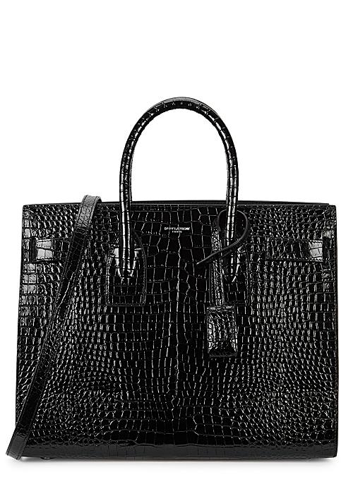 44950ebd0af9 Saint Laurent Sac Du Jour small crocodile-effect top handle bag ...