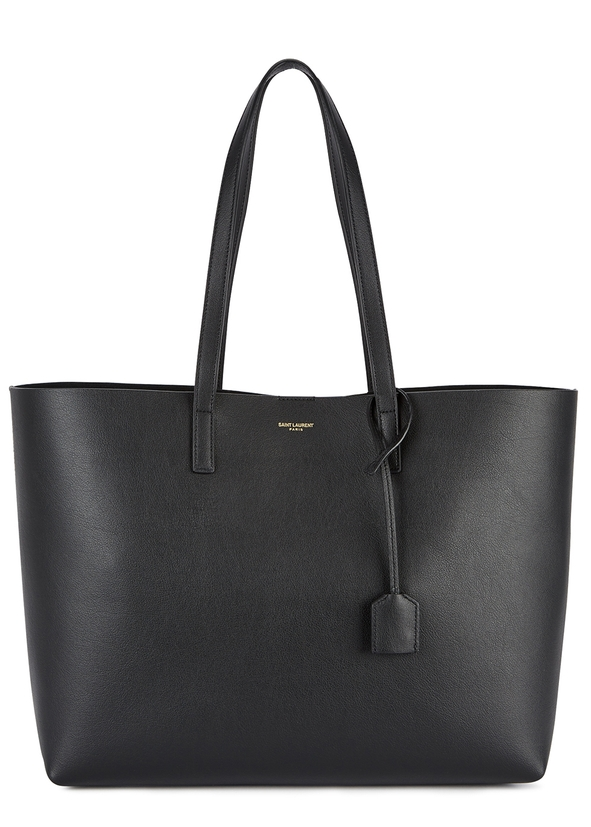 6317787a096b East West black leather tote ...