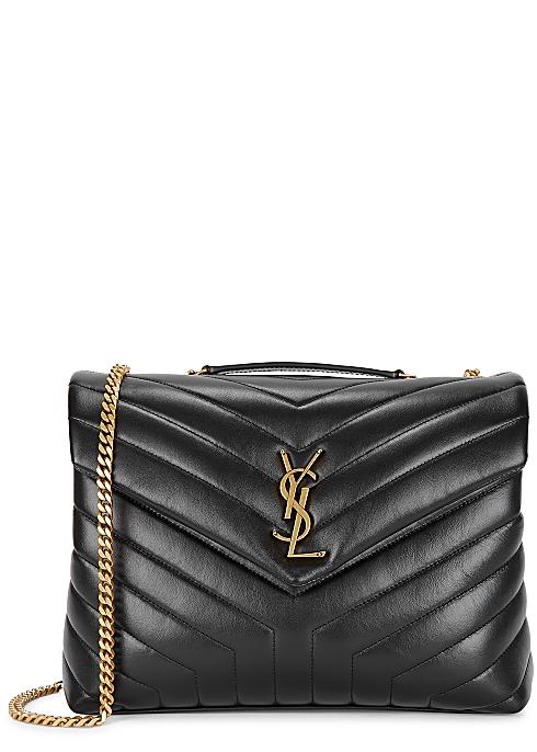 5d0b717cdaa Saint Laurent Loulou medium black leather shoulder bag - Harvey Nichols