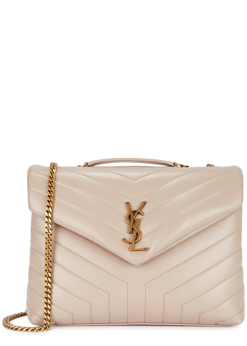 5bcdb9b3734e Saint Laurent Loulou medium blush leather shoulder bag - Harvey Nichols
