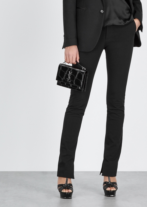 c26e2ce6d401 Saint Laurent Sunset crocodile-effect leather cross-body bag ...