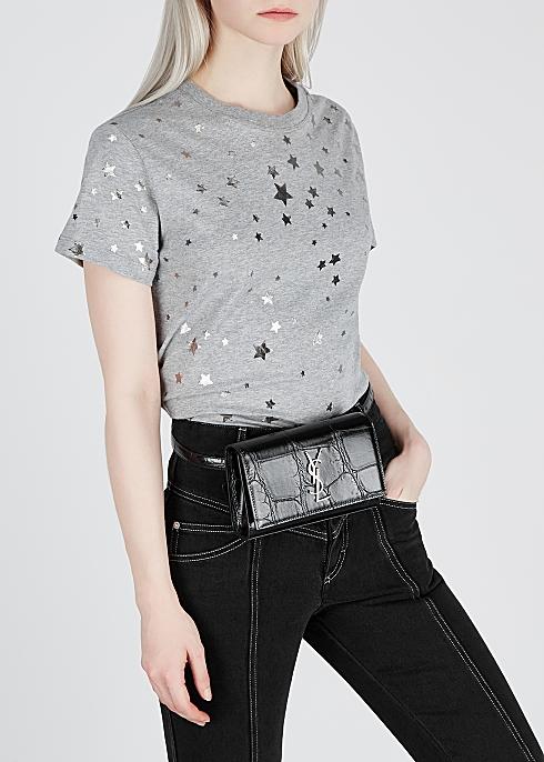 6593f1fdf9b Saint Laurent Kate Maxi crocodile-effect leather belt bag - Harvey ...