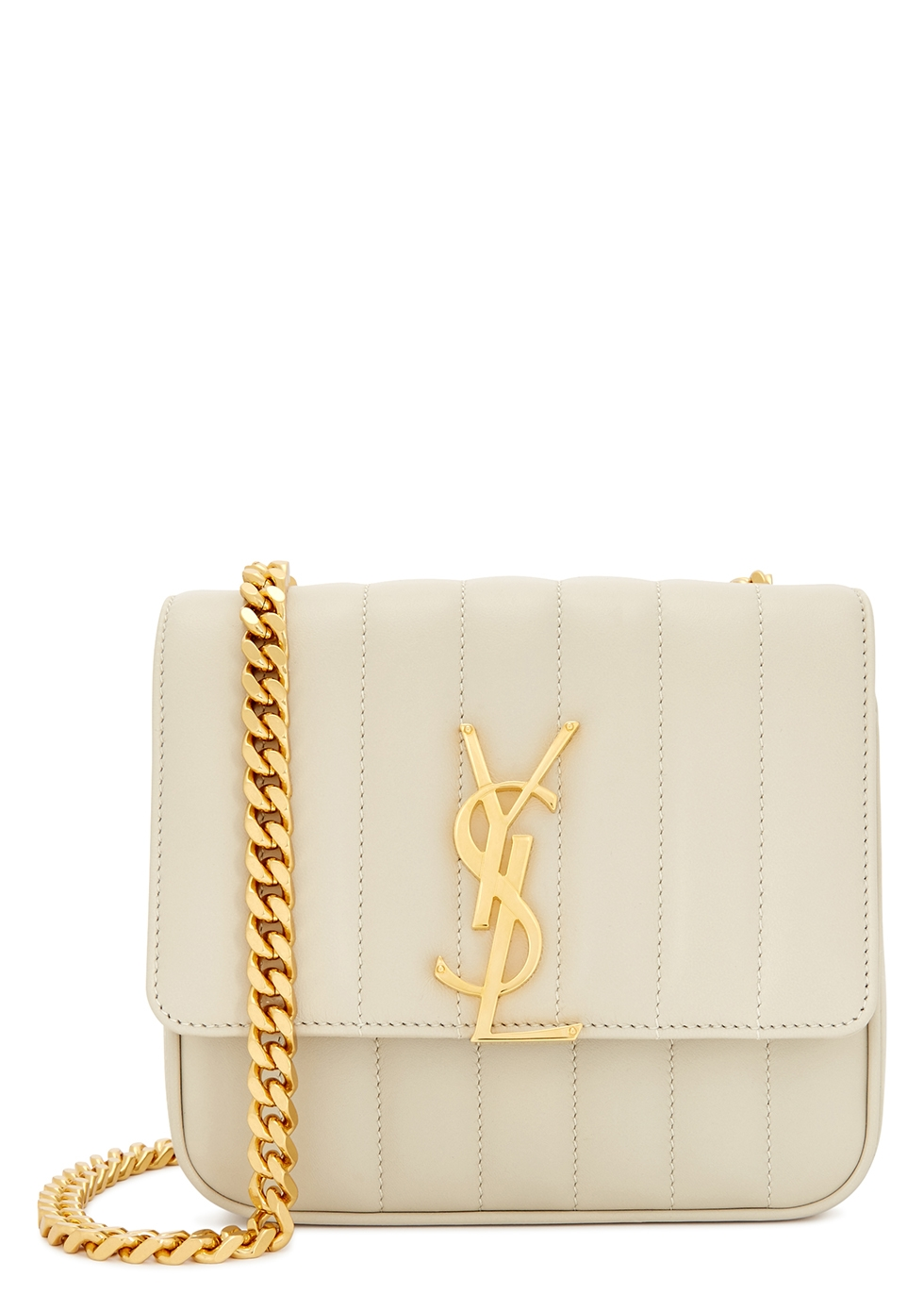 Vicky small leather shoulder bag - Saint Laurent