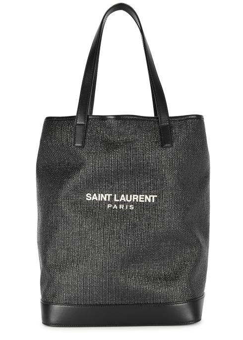 Saint Laurent Teddy canvas and leather tote - Harvey Nichols e9350b9496