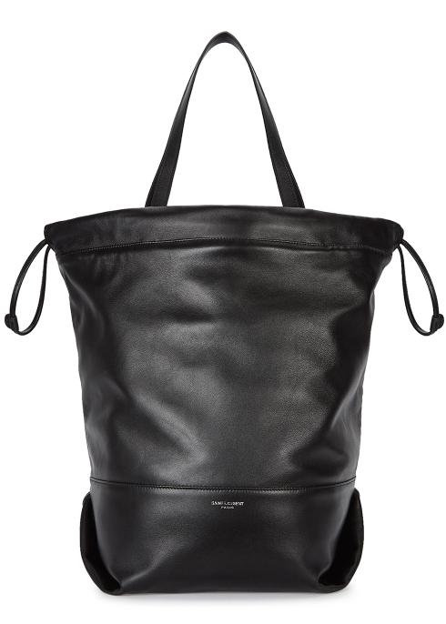 Saint Laurent Teddy Harlem black leather tote - Harvey Nichols c60a73c07d