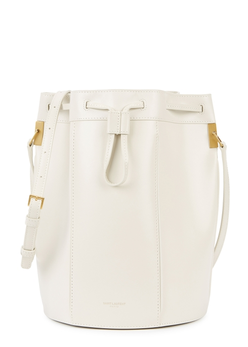 1745e3175588 Saint Laurent Talitha medium off-white leather bucket bag - Harvey ...