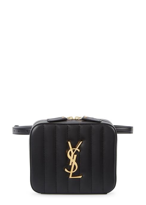 2fe4ad8cbe12 Saint Laurent Vicky black leather belt bag - Harvey Nichols