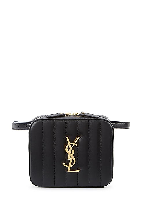 56f64f51070 Saint Laurent Vicky black leather belt bag - Harvey Nichols