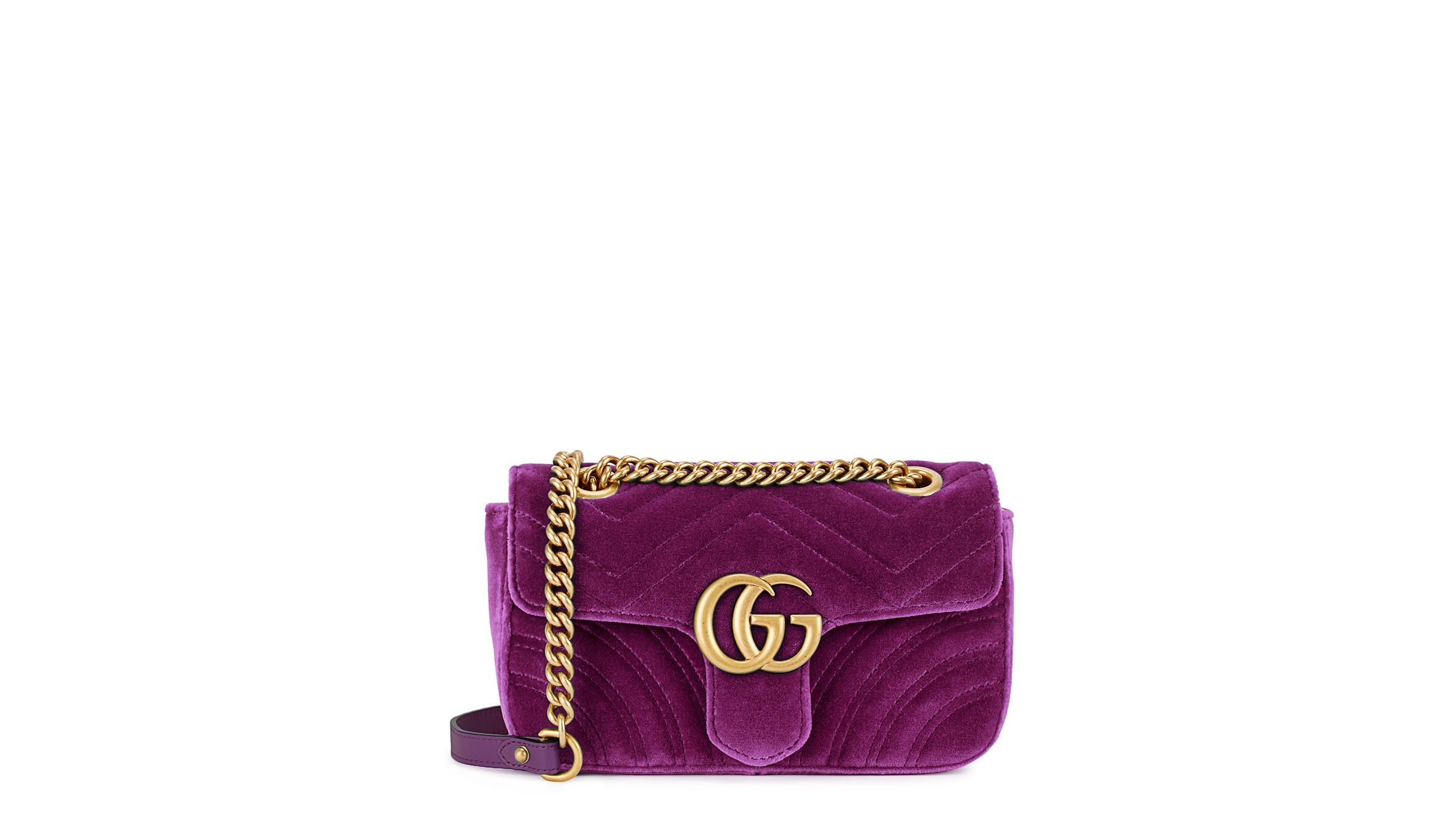 1e543211bc3 Gucci GG Marmont mini velvet shoulder bag - Harvey Nichols