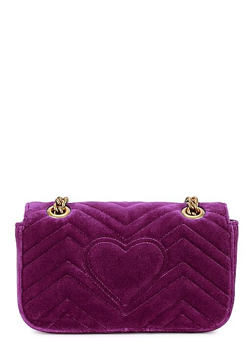 aed63b4f1447 Gucci GG Marmont mini velvet shoulder bag - Harvey Nichols