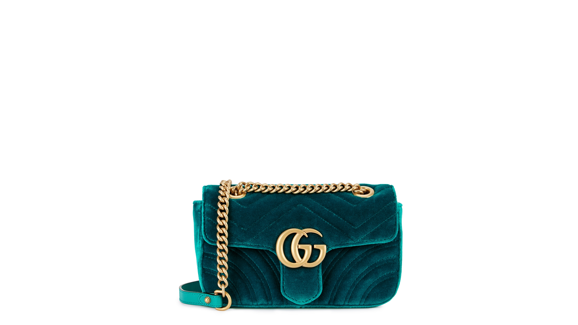 18dc335825c21a Gucci GG Marmont mini velvet shoulder bag - Harvey Nichols
