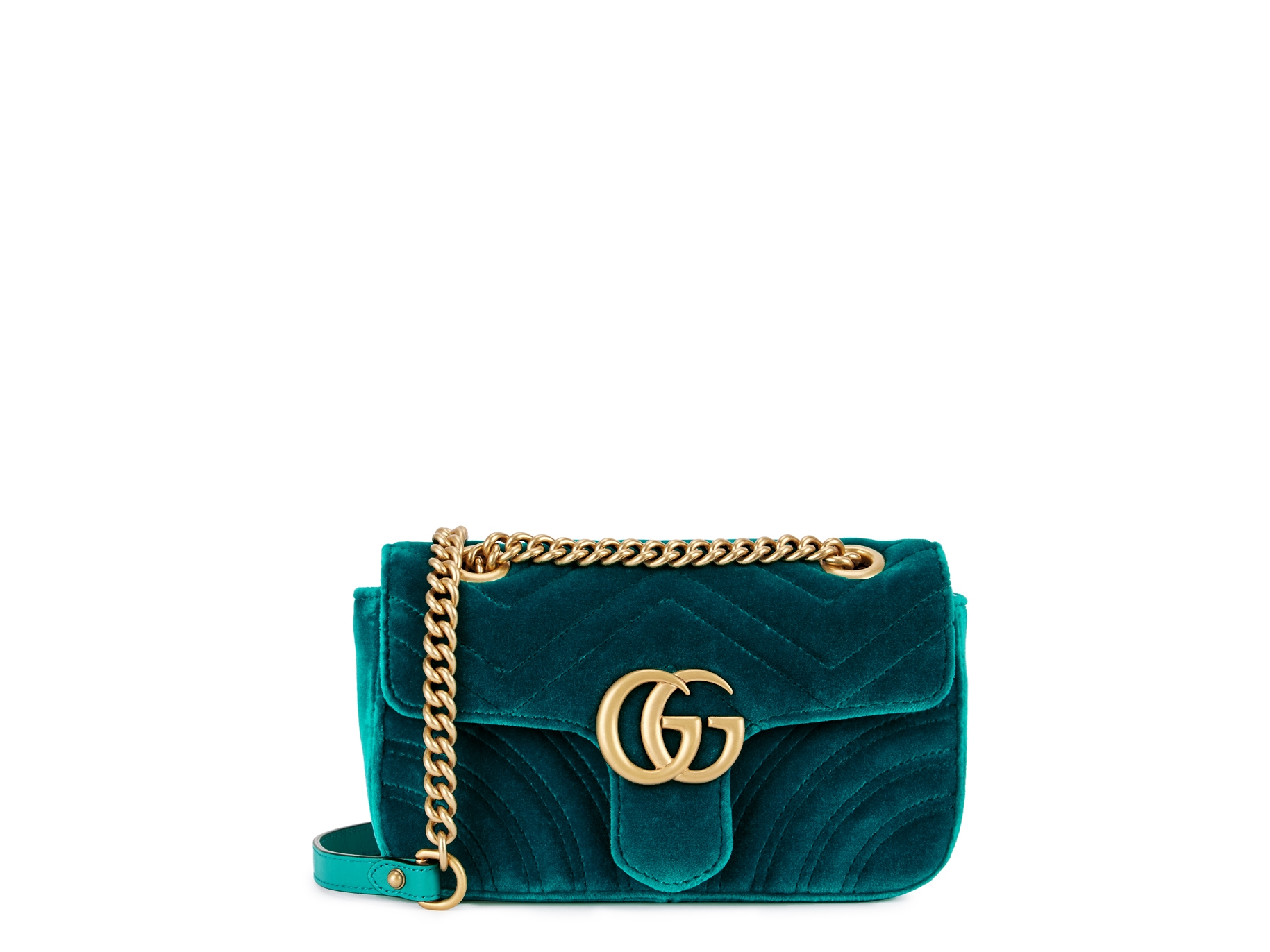164651ddff2f Gucci GG Marmont mini velvet shoulder bag - Harvey Nichols