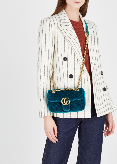 eb7aade8e10 Gucci GG Marmont mini velvet shoulder bag - Harvey Nichols