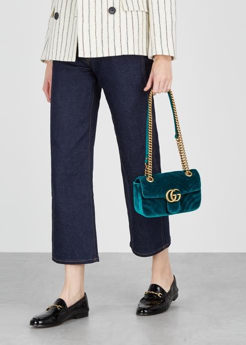 6b46d86992997 Gucci GG Marmont mini velvet shoulder bag - Harvey Nichols