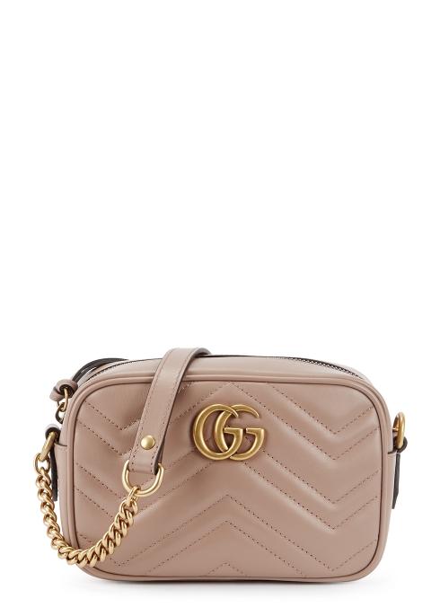 75337803682 Gucci GG Marmont mini leather cross-body bag - Harvey Nichols