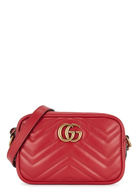 GG Marmont mini leather cross-body bag ...