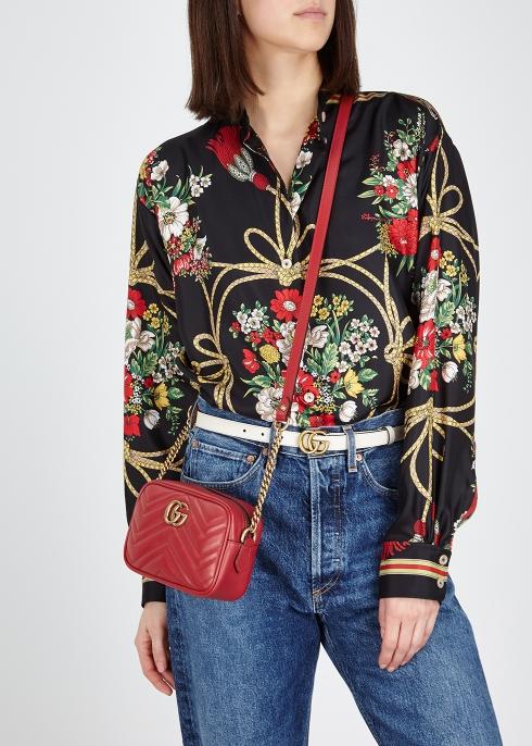 d75a92bed13 Gucci GG Marmont mini leather cross-body bag - Harvey Nichols