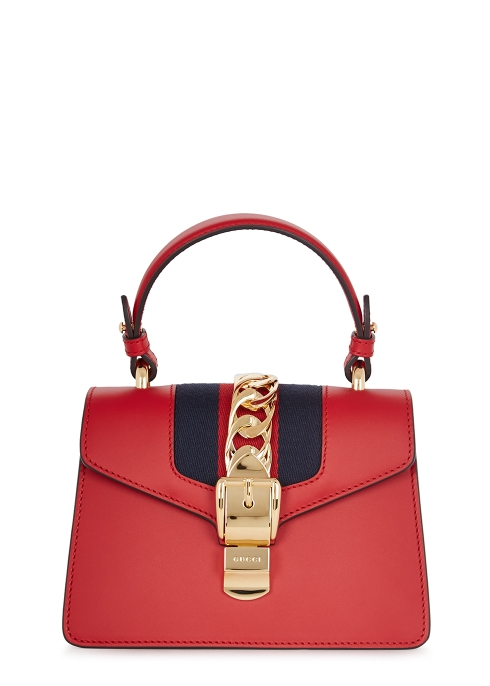Gucci Sylvie mini red cross-body bag - Harvey Nichols 75424167da1f5