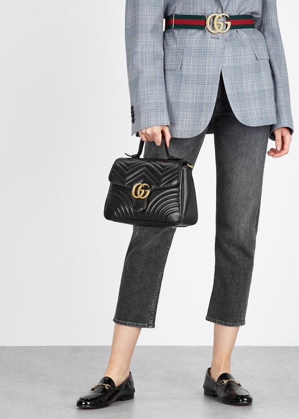 GG Marmont black leather shoulder bag GG Marmont black leather shoulder  bag. New Season. Gucci. GG ... 5a34f86250b3