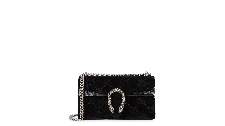 2c688b5021d0d Gucci Dionysus small black velvet shoulder bag - Harvey Nichols