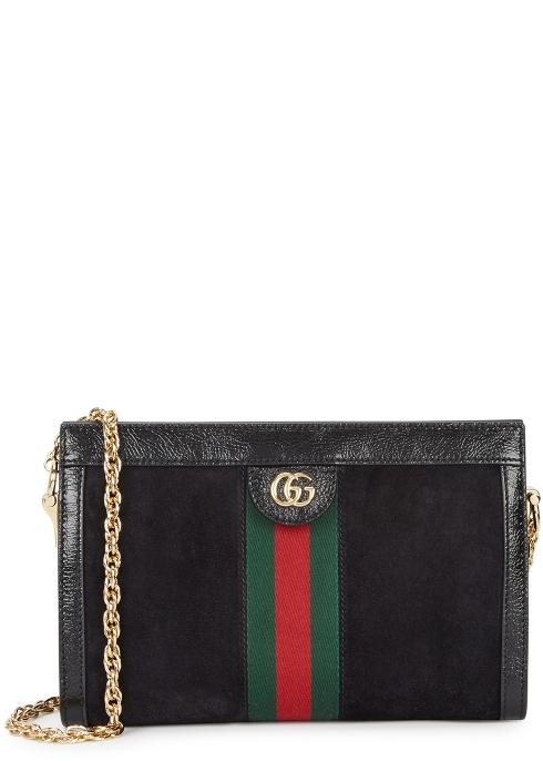 a6614042f80 Gucci Ophidia black suede shoulder bag - Harvey Nichols
