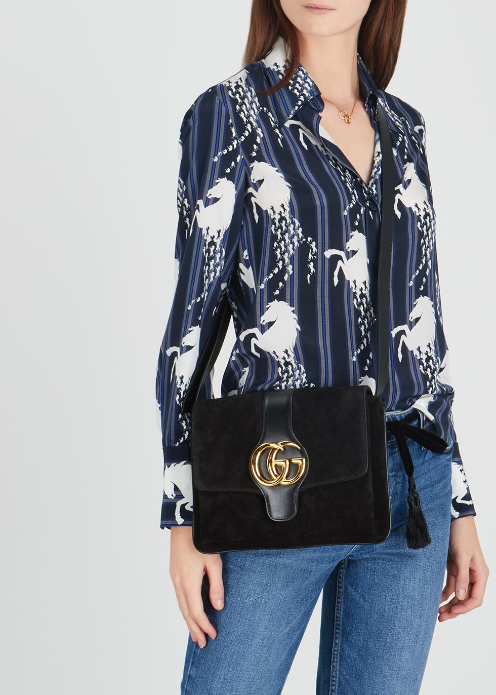 4b8cefe63 Gucci Arli medium suede shoulder bag - Harvey Nichols