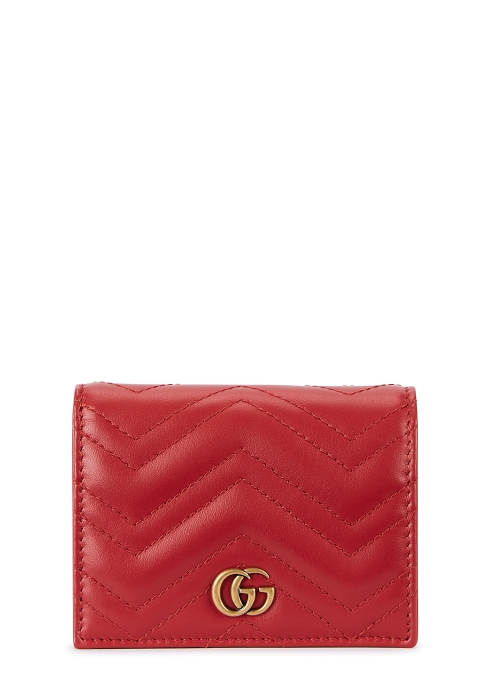 35049f378a3 Gucci GG Marmont red leather wallet - Harvey Nichols