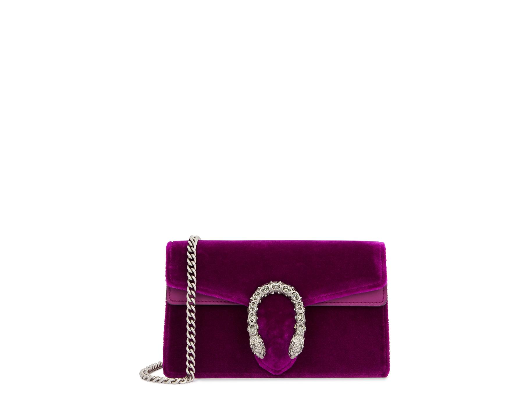 8a304f7fd982 Gucci Dionysus super mini velvet clutch - Harvey Nichols