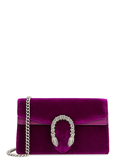 db00f16ff489 Gucci Dionysus super mini velvet clutch - Harvey Nichols