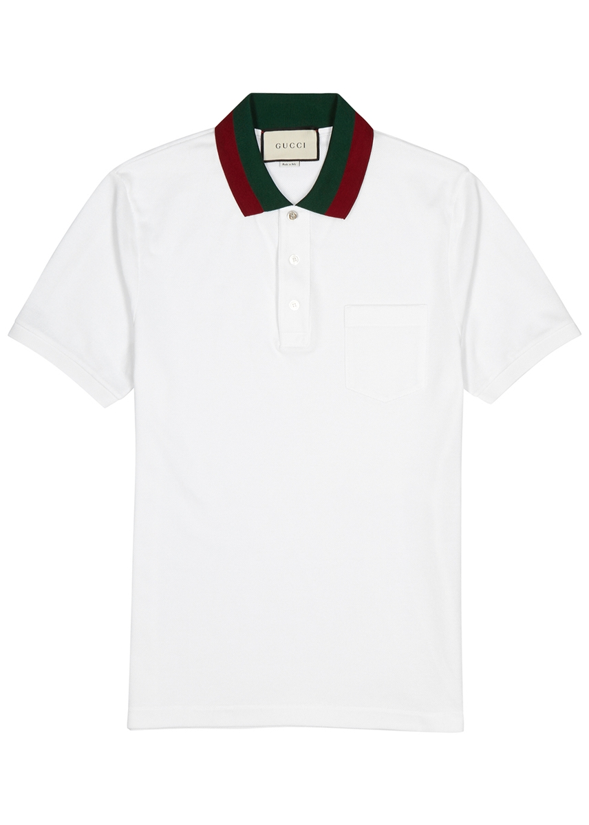 a1e5e19abcb White piqué cotton polo shirt White piqué cotton polo shirt. Gucci