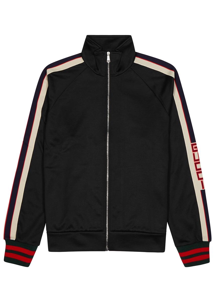 46dc7b63ce3 Black logo jersey sweatshirt ...