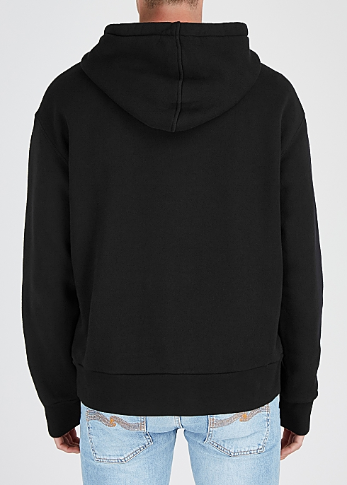 1b2b81a2 Gucci Black logo-print hooded cotton sweatshirt - Harvey Nichols