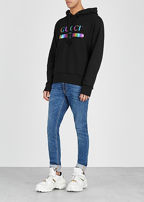 7ff3524dea5f Gucci Black logo-print cotton sweatshirt - Harvey Nichols