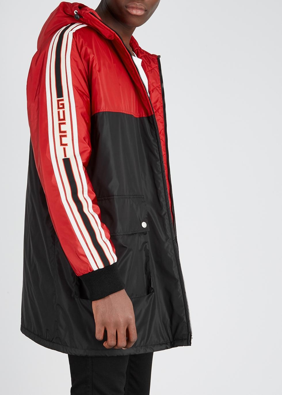 f4c8b07ef Gucci Two-tone striped shell coat - Harvey Nichols