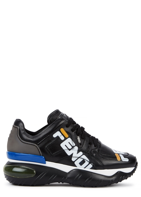 ccd8961b11f0 Fendi X Fila black leather trainers - Harvey Nichols