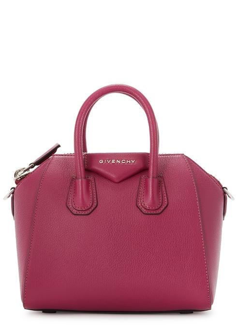 8e352a15dd Givenchy Antigona mini pink leather top handle bag - Harvey Nichols