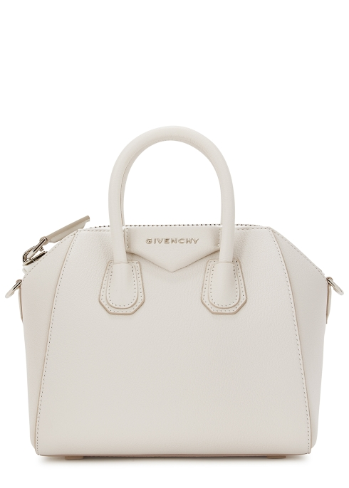 e3ceda2385 Givenchy Antigona mini white leather top handle bag - Harvey Nichols