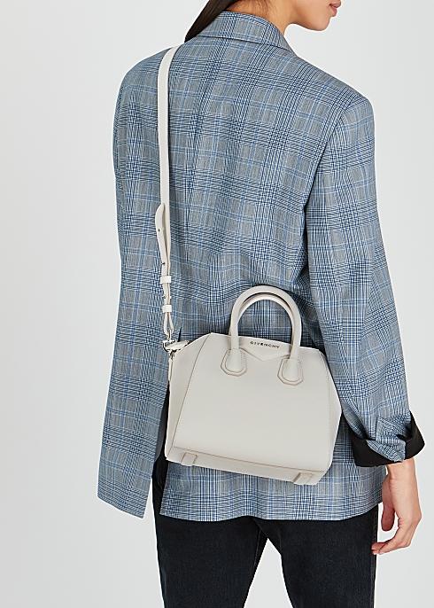 f2c47b76de Givenchy Antigona mini white leather top handle bag - Harvey Nichols