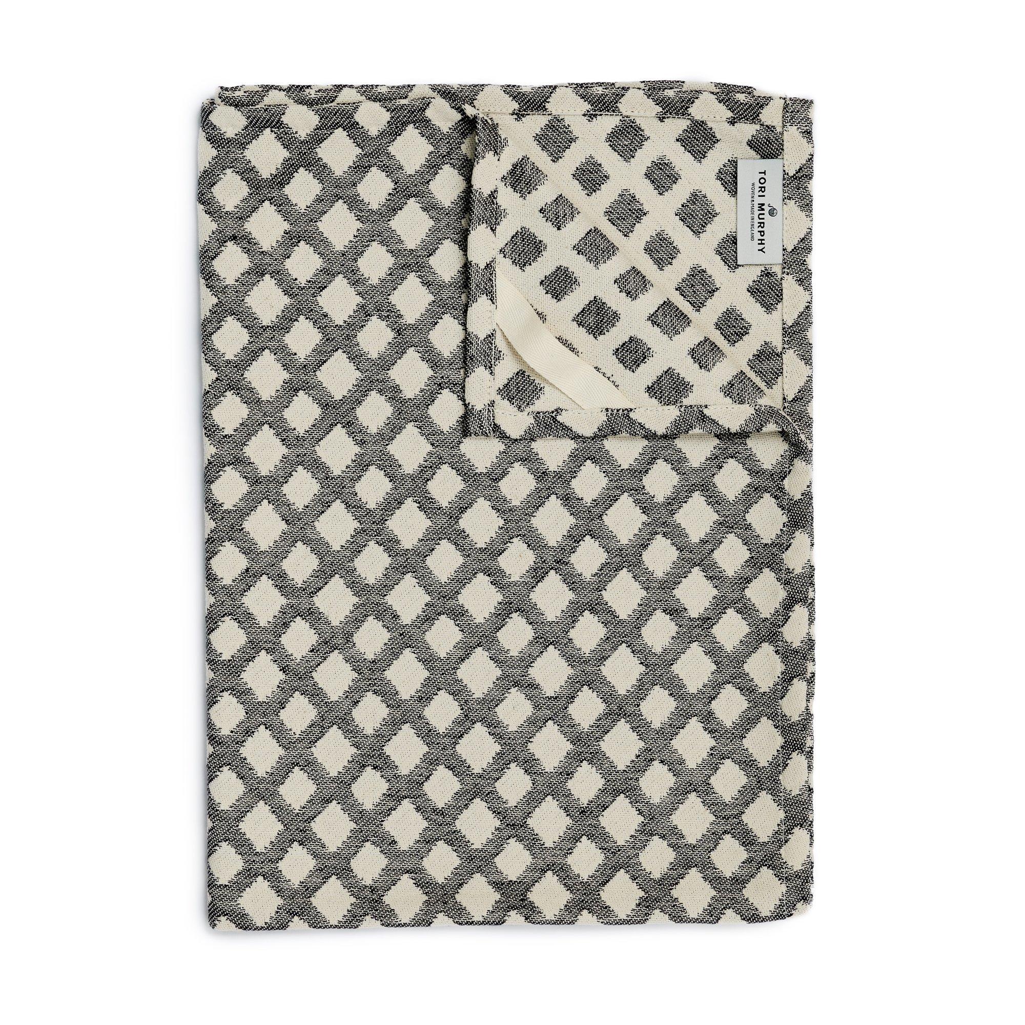 Bridal Shoes Harvey Nichols: Tori Murphy Cadogan Check Tea Towel Black