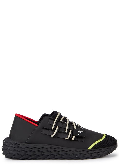 Giuseppe Zanotti Urchin black rubberised trainers - Harvey Nichols 732889cad342
