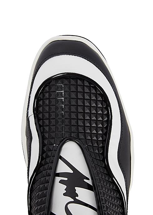 61a0e47e66eae Giuseppe Zanotti Light Jump monochrome leather trainers - Harvey Nichols