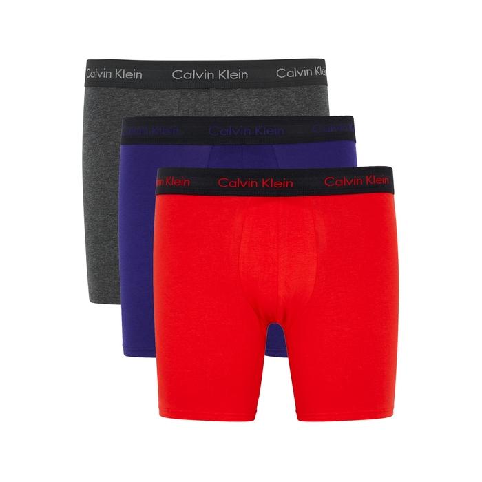 Calvin Klein Stretch Cotton Boxer Briefs – Set Of Three
