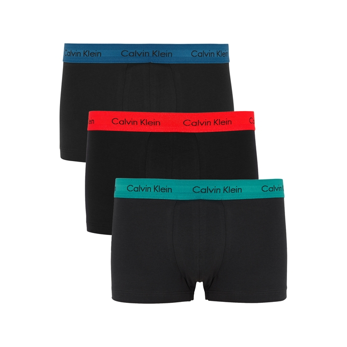Calvin Klein Black Stretch Cotton Boxer Briefs – Set Of Three